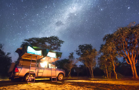 NDER THE STARS IN AFRICA